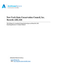 New York State Conservation Council, Inc. Records, 1937-1989 by Matthew Golebiewski