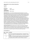 Milo R. Kniffen Case File on Panther Mountain Dam, 1923-1965