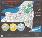 Outdoor Recreation Map of New York by New York State Conservation Department Division of Conservation Education