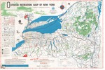 Outdoor Recreation Map of New York by New York State Conservation Department
