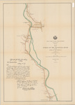 Map of the Survey of the Sacondaga River between Station 484 and Station 551 by Verplanck Colvin and C. G. Locke
