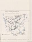 Low Boreal Habitats in St. Lawrence and Franklin Counties by State of New York Adirondack Park Agency