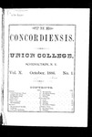 The Concordiensis, Volume 10, Number 1 by E. D. Very