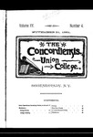 The Concordiensis, Volume 15, Number 4 by H. B. Williams
