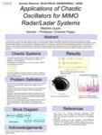 Applications of Chaotic Oscillators for MIMO Radar/Ladar systems by Meesha Gupta
