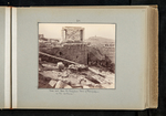 24. View out from the Propylaea. Tomb of Philopappus in the distance. by William James Stillman