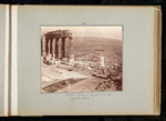 34. Interior of Parthenon. Hymettus & the hills along the Ilyssus by William James Stillman