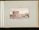 45. Plateau of Acropolis Parthenon & Erectheum / Salamis in central distance by William James Stillman